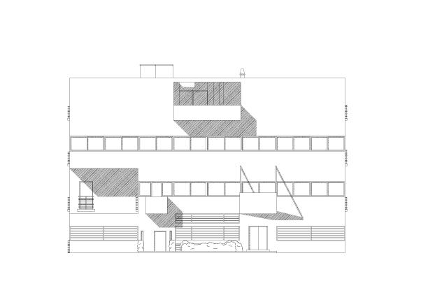 Villa Savoye Front Elevation : Totem hoffmanea